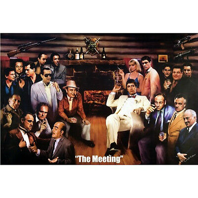 The Meeting Poster THE GODFATHER, SOPRANOS, SCARFACE large size 61 cm X 91.5 cm