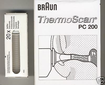 100 Schutzkappen BRAUN THERMOSCAN Ohrthermo. original