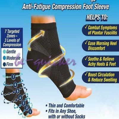 Unisex Compression Foot Ankle Socks Sleeves Plantar Fasciitis Heel Sore Socks B