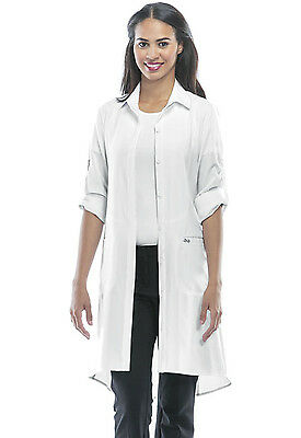 "White Cherokee Scrubs Infinity 40""  Lab Coat 1401A WTPS Antimicrobial"