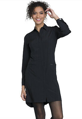 "Black Cherokee Scrubs Infinity 40""  Lab Coat 1401A BAPS Antimicrobial"