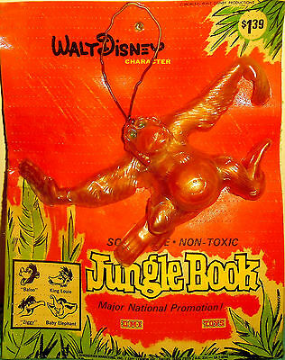 New Vintage 1966 Disney Jungle Book King Louie Oily Jiggler (Russ Berrie) MOC