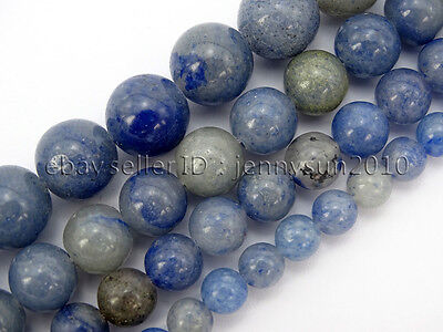 Natural Blue Aventurine Gemstone Round Loose Beads 15'' 6mm 8mm 10mm 12mm