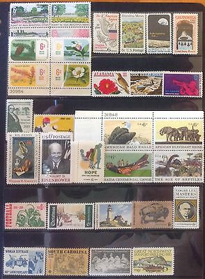 USA  c 1969--1972 UNMOUNTED MINT SELECTION SUPERB VALUE!! 97 STAMPS!!!