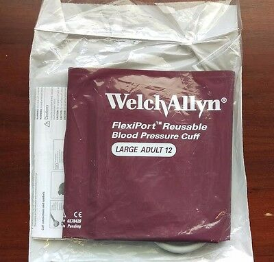Welch Allyn Blood Pressure Cuff Reusable 1-Tube LARGE ADULT #REUSE-12-1HP NEW