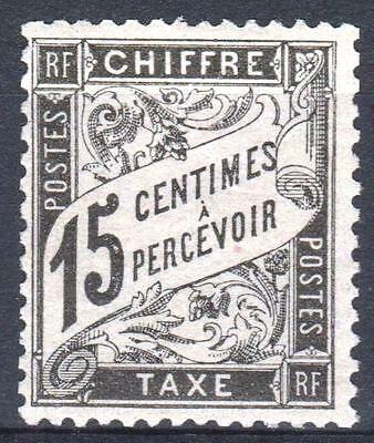 "FRANCE STAMP TIMBRE TAXE N° 16 "" TYPE DUVAL 15c NOIR "" NEUF xx TTB  M660"