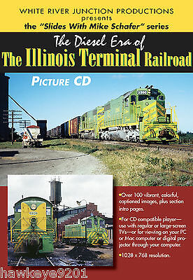 The Diesel Era of the Illinois Terminal Railroad photo CD by Mike Schafer