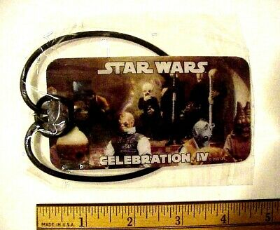 Star Wars Celebration IV LA Convention 2007 Cantina Scene Luggage Tag NEW IN PKG