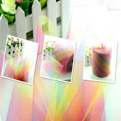"Rainbow Tutu Trim Tulle Fabric Craft Wedding Decoration dress 5/25/100yd 6""L1976"
