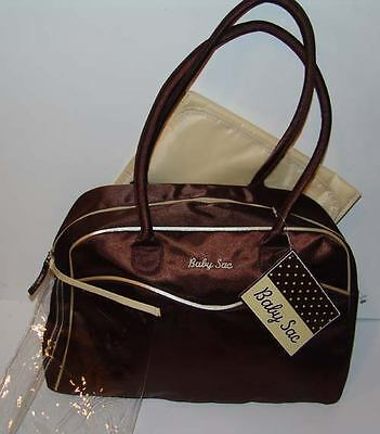 Baby Sac Brown Beige Diaper Bag New With Tag