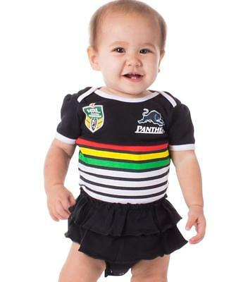 Penrith Panthers Nrl Team Girls Footysuit Tutu Frill Skirt Baby Infant Romper