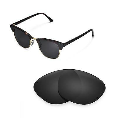 New Walleva Polarized Black Lenses For Ray-Ban Clubmaster RB3016 51mm Sunglasses