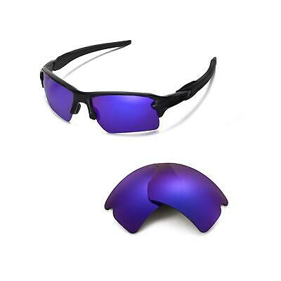 fd8b9273719 Walleva Polarized Purple Replacement Lenses For Oakley Flak 2.0 XL  Sunglasses