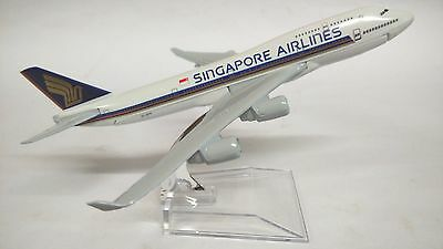 16cm 1:450 Singapore Airline 747 Airplane Aeroplane Diecast Plane Toy Model