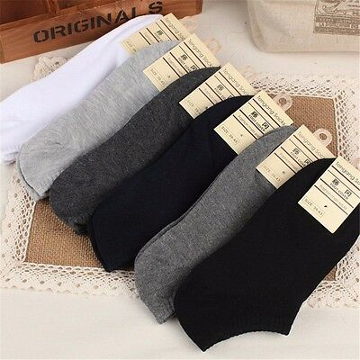 5 Pairs New Men Casual Sports Socks Crew Ankle Low Cut Cotton Socks 9-12