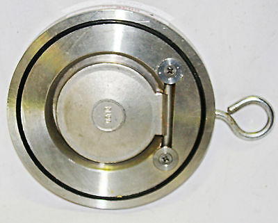 "WAFER SWING CHECK VALVE  Stainless Steel  Overall Diameter 5 5/8"" / 143mm"
