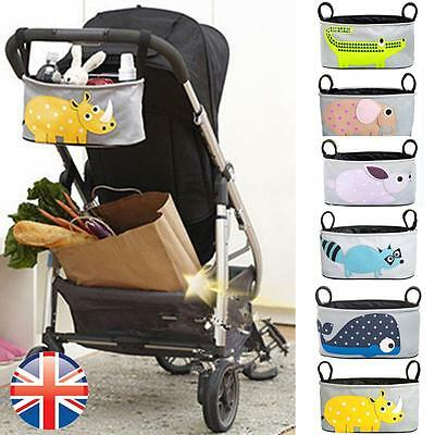 *UK Seller* Baby Universal Pram Pushchair Buggy Organizer Bag with Cup Holder