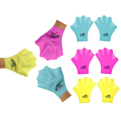 Unisex Adult/Children Silicone Swimming Webbed Gloves Diving Snorkeling Gloves
