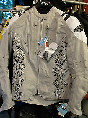 Joe Rocket Atomic 4.0 Womens Jacket Textile With Liner Silver White  2 Diva 3X