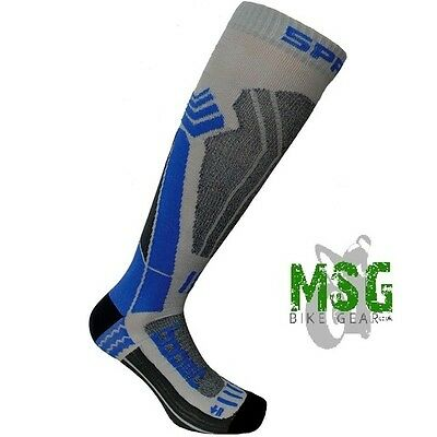 Spring Technical Motorcycle Summer Race Boot Advanced Socks Blue/grey - New
