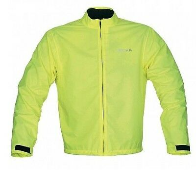 Richa Motorcycle 100% Rain Warrior Waterproof Motorbike Over Jacket Full Fluo