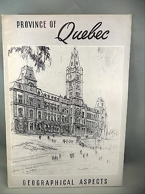 Province of Quebec Geographical Aspects BW Photos Maps Illustrations Book