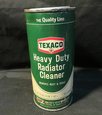 Vintage Texaco Heavy Duty Radiator Cleaner 18oz Unopened