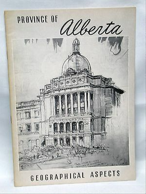 Alberta Geographical Aspects Provincial Series Pamphlet Booklet c.1940