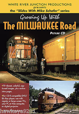 Growing Up With The Milwaukee Roadphoto CD by Mike Schafer