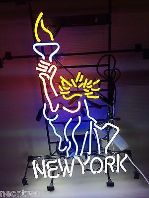 new york liberty freiheitsstatur neonreklame neon signs leuchtreklame sign retro eur 318 99. Black Bedroom Furniture Sets. Home Design Ideas