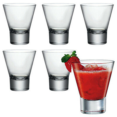 6x Bormioli Rocco Ypsilon Glass Tumbler Glasses Drinking Cups Whiskey Dining New