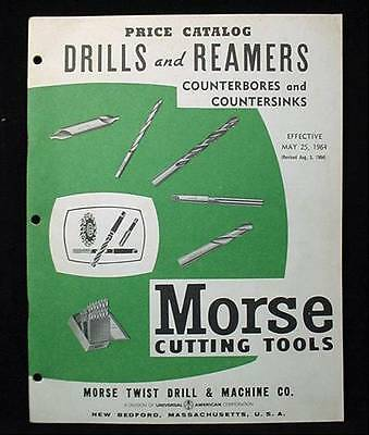 1964 Morse Cutting Tools Price Catalog Drills and  Reamers +++