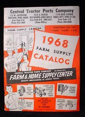 1968 Farm Supply Catalog Tractor Parts & Much More Iowa