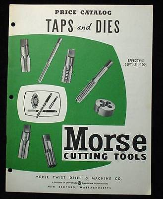 1964 Morse Cutting Tools Price Catalog Taps and Dies +++