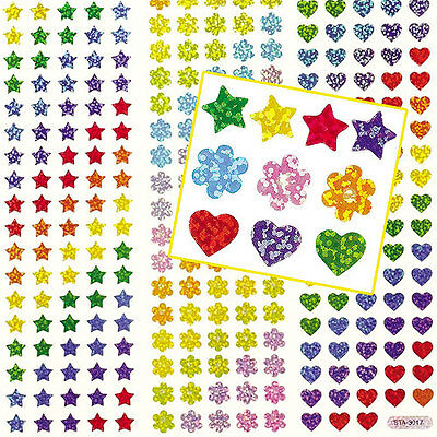 Mini Holographic Stickers for Kids to Decorate Crafts & Cards (Pack of 348 )