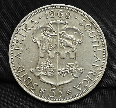 1960 South Africa 5 Shillings EF-40