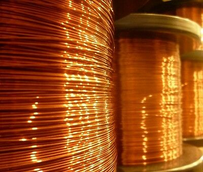 0.18mm - ENAMELLED COPPER WINDING WIRE, MAGNET WIRE, COIL WIRE - 1500 Gram Spool