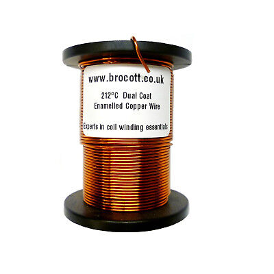 22AWG ENAMELLED COPPER WINDING WIRE, MAGNET WIRE, COIL WIRE - 250 Gram Spool