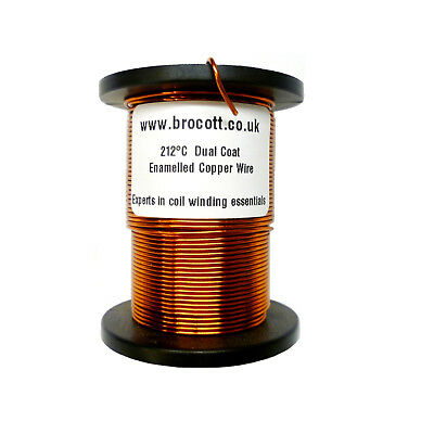 22AWG - ENAMELLED COPPER WINDING WIRE, MAGNET WIRE, COIL WIRE - 250 Gram Spool