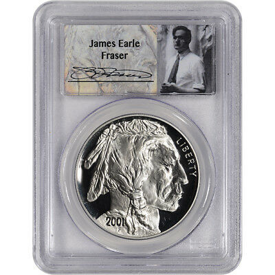 2001-P US American Buffalo Commemorative Proof Silver Dollar - PCGS PR69 Fraser
