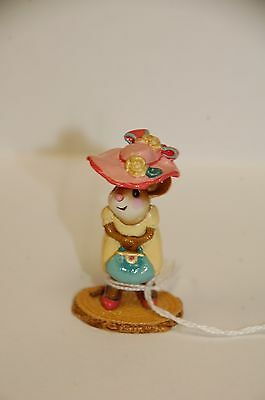 Wee Forest Folk Mouse Mall Mom Yellow Dress M-264 Mother Pink Hat