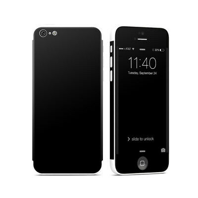 iPhone 5C Skin - Solid State Black - Sticker Decal