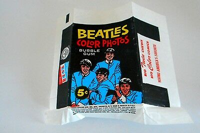 original BEATLES 1964 TOPPS Color card Series wax paper wrapper V NICE CONDITION
