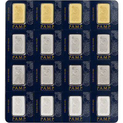 PAMP Multigram Portfolio 16x2.5 gram Bar - PAMP Suisse - Fortuna in Sealed Assay
