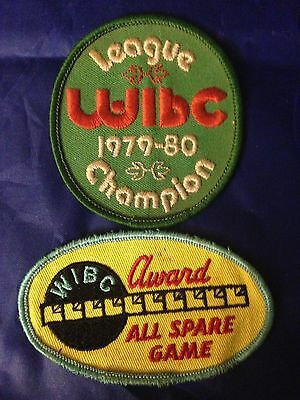 Pair of Vintage BOWLING PATCHES New Old Stock Unglued Unsewn