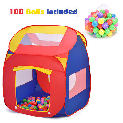 Portable Kid Baby Play House Indoor Outdoor Toy Tent Game Playhut 100 Balls