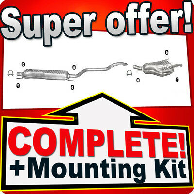 Silencer for Vauxhall Zafira A 2.0 Di DTi 1999-2005 exhaust system //1649