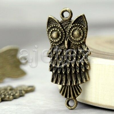 25pcs fashion Owl Links antique brass vintage TS4227-4