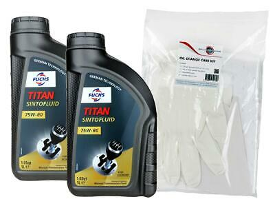 Fuchs Titan Sintofluid SAE 75W80 GL-5 Manual Transmission Fluid Twin Pack