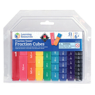 Learning Resources Fraction Tower Fraction Cubes NEW